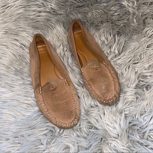 Coach suede leather slip on moccasins flats 8